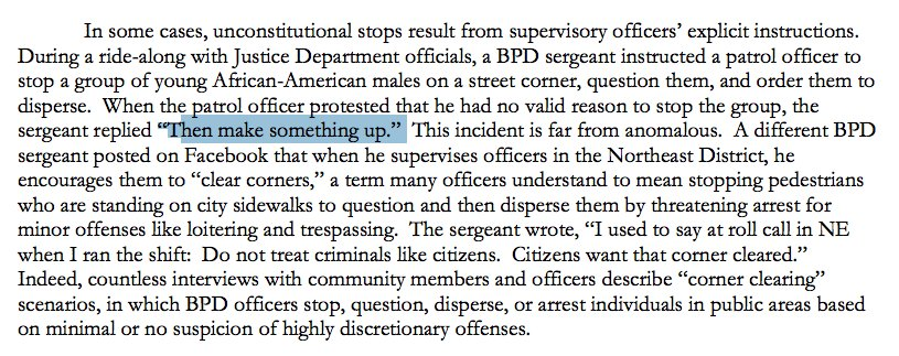 """""""Then make something up."""" — a Baltimore sergeant to an officer, DURING A DOJ RIDE-ALONG https://t.co/0qQy8iZOcA https://t.co/vLO0cNZuna"""