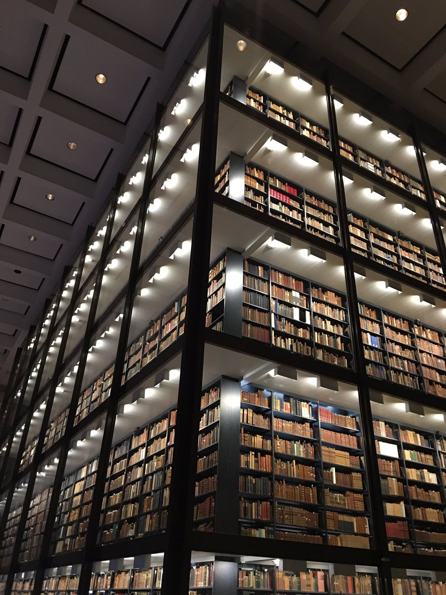 In honor of #NationalBookLoversDay, images of our newly replenished book tower #BeineckeTheNextChapter https://t.co/HT4MmDxaZJ