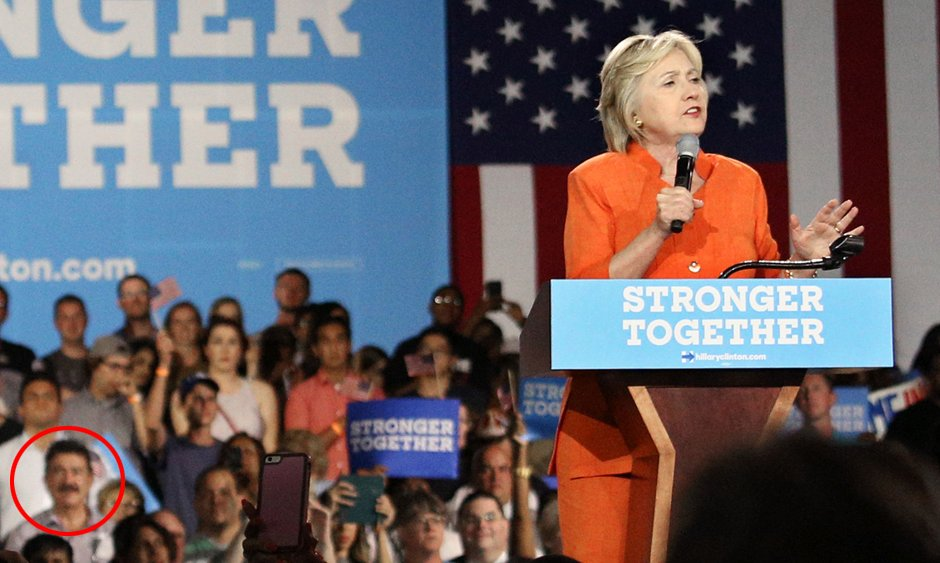 'I was invited': Seddique Mateen, father of Orlando nightclub shooter, seen at Clinton rally