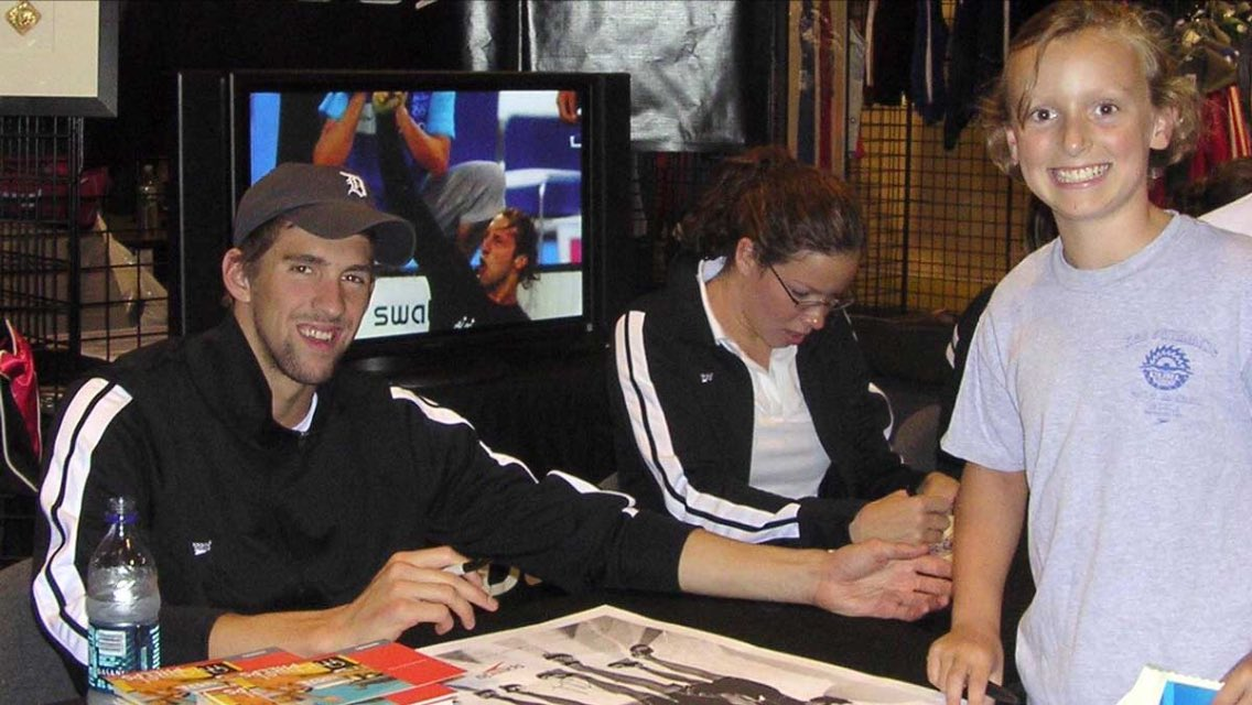 Michael Phelps and Katie Ledecky 10 years ago. Very inspiring! https://t.co/bWR0FfhGyZ