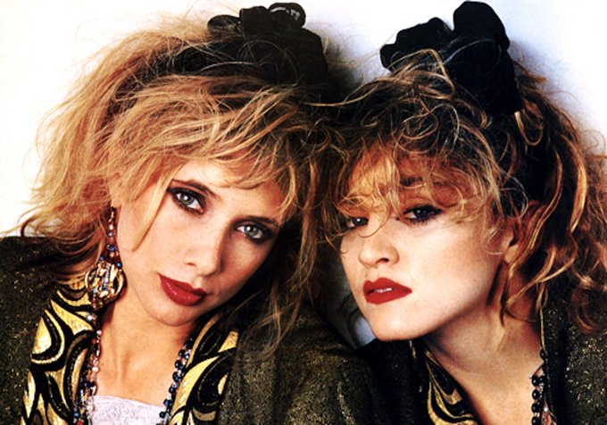Happy birthday to Rosanna Arquette, here with Madonna in \Desperately seeking Susan\ (1985)