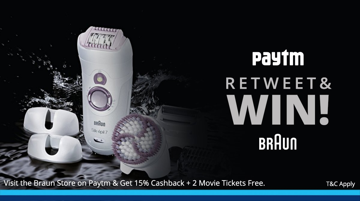 #CONTEST : Simply Retweet this and we will give away a Braun Product to a Lucky retweeter. https://t.co/0KjL7UuLQj https://t.co/wspoODchyC