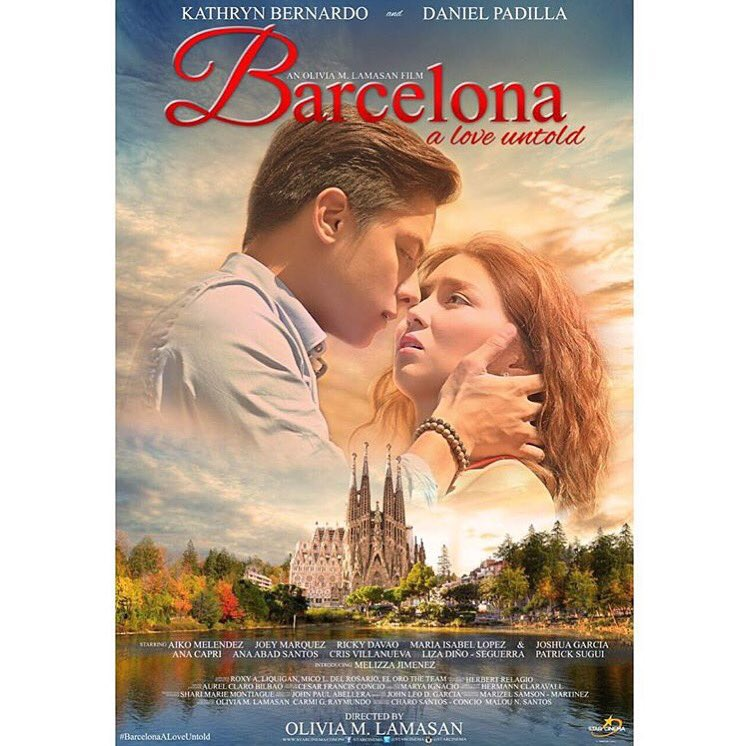#BarcelonaALoveUntold is the perfect backdrop for the love story of the loveteam  that is #KathNiel.❤️