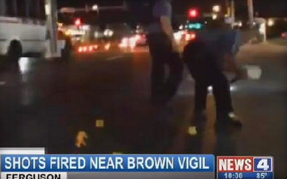 Gunfire during demo in Ferguson on Michael Brown death anniversary