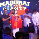 RT @sri50: #MaduraiSuperGiants in #TNPL officially launched  by @virendersehwag @iam_str @anirudhofficial @MusicThaman https://t.co/TN1SnbZ…