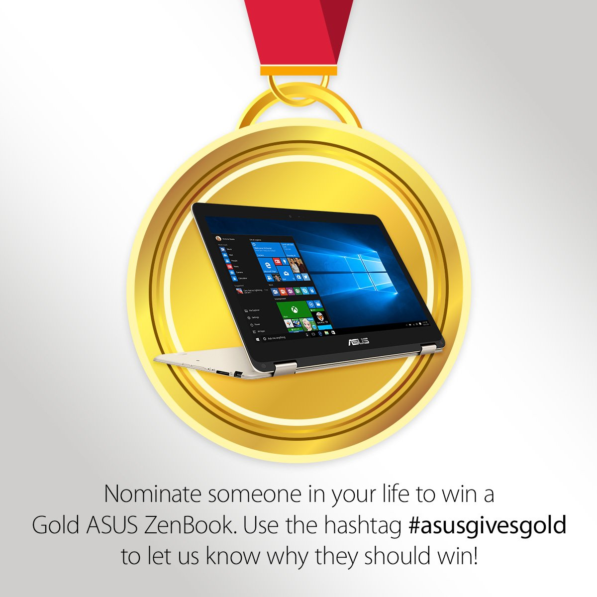 Is there someone in your life who deserves to be a winner? use #asusgivesgold and they could win a #zenbook https://t.co/HC2k69MJCR