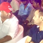 RT @CineTimee: #MaduraiSuperGiants ! @MusicThaman With @virendersehwag !  @MSGteamofficial ! https://t.co/OBhI2bP45i