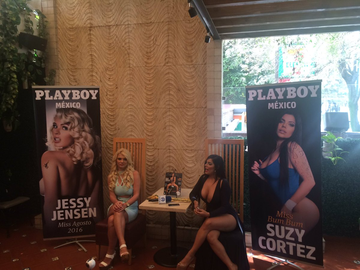 RT @mx_titan: @SuCortezOficial y @jessyjensen en presentación de  @PlayboyMX https://t.co/uW3WB3lorL