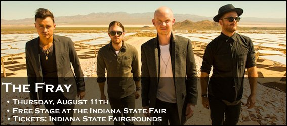 @TheFray is on the free stage of the @IndyStateFair today. https://t.co/xKFnmz5BL8 https://t.co/FPl7Puy56Q