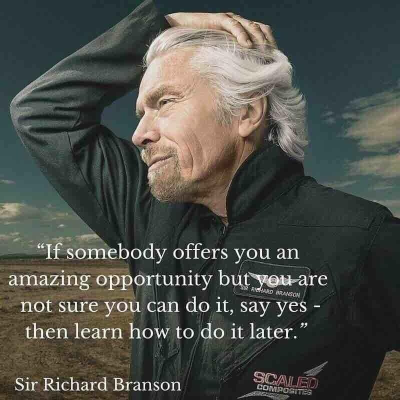 """If somebody offers you an amazing opportunity but you're not sure you can do it, say yes and learn to do it later"" https://t.co/4Ac290qBMo"