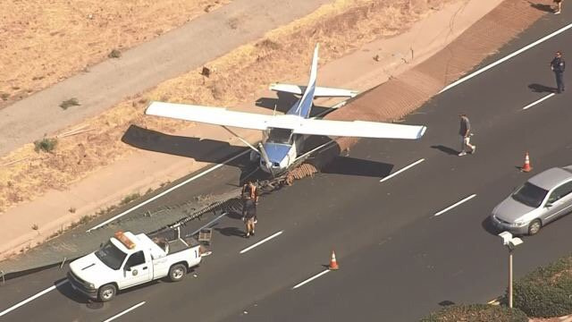 Small Plane Rolls Off Runway At San Jose Reid-Hillview Airport