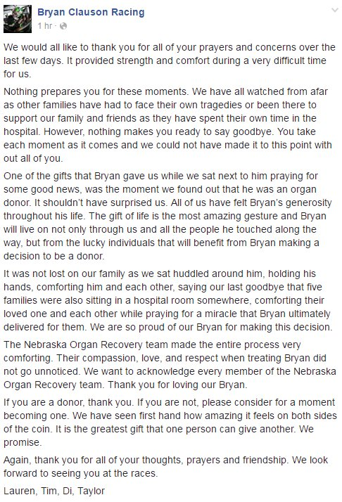 Reading this, I'm so honored to have known Bryan and Justin. 10 people live on today because of their generosity. https://t.co/TIFGdXnjxV
