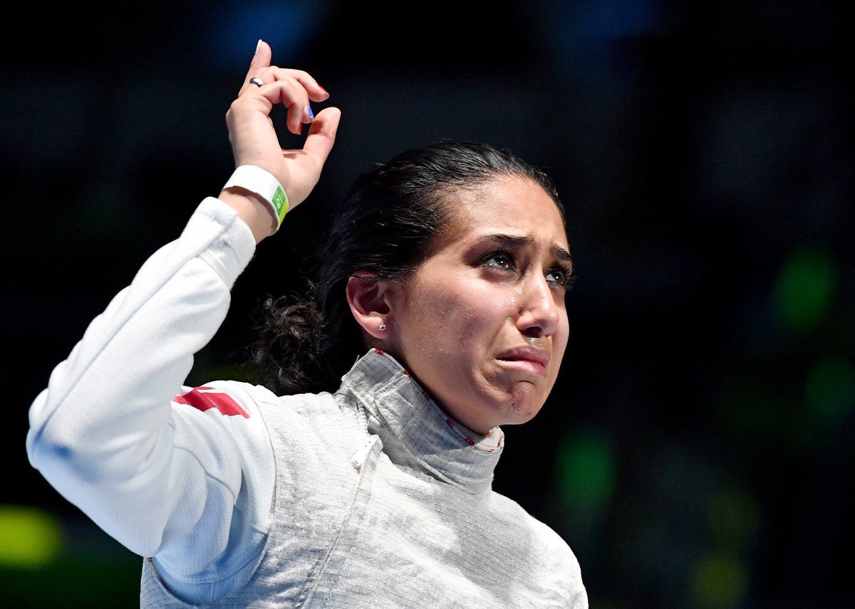 Congratulation to Boubakri Ines #TUN on winning the #Bronze medal in women's foil individual event #Fencing #Rio2016 https://t.co/WJ7f6rtaOC