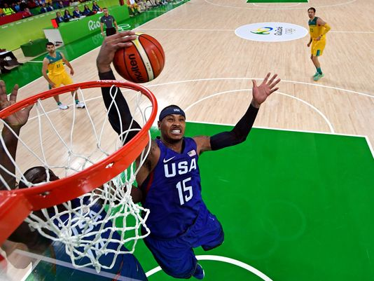 Behind Carmelo Anthony, USA Olympic men's basketball team survives Australia