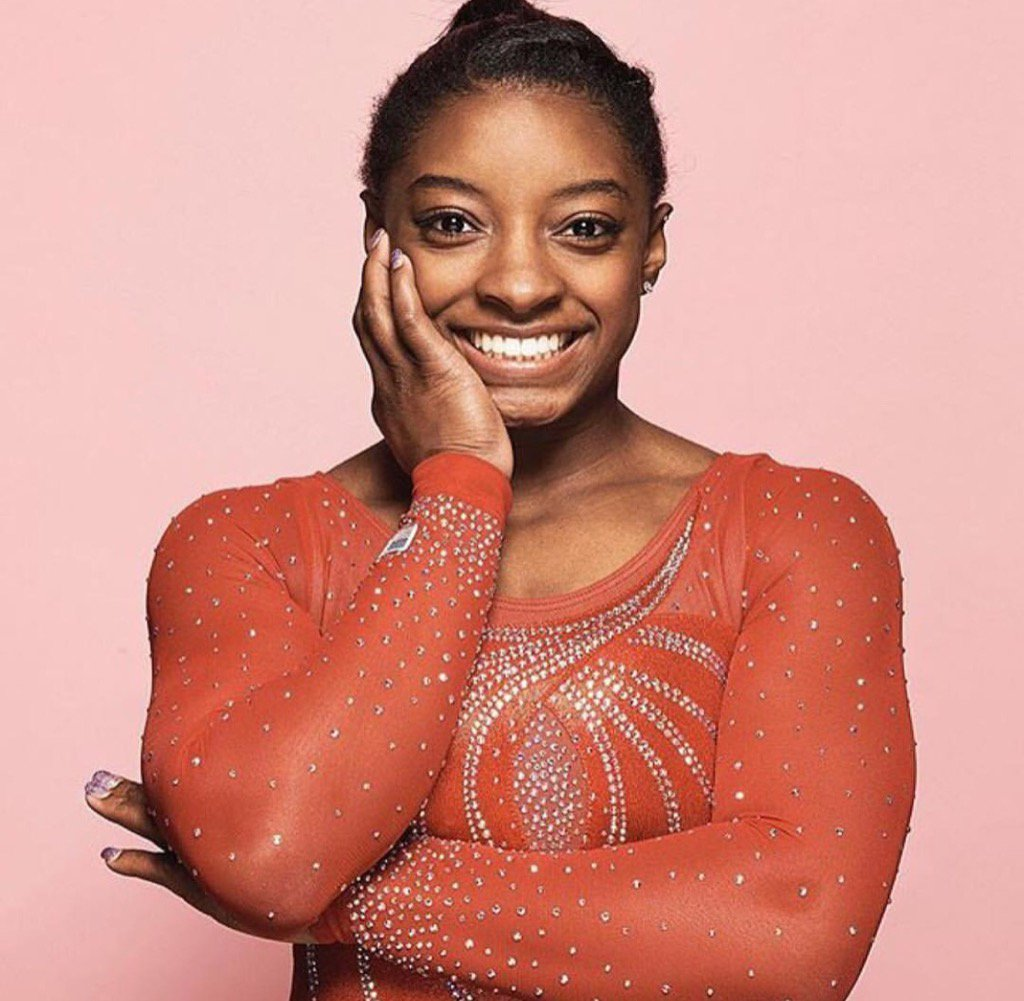 Her strength. Her smile. Her story. @Simone_Biles is the embodiment of a true superhero... https://t.co/eFdBX7QfFx