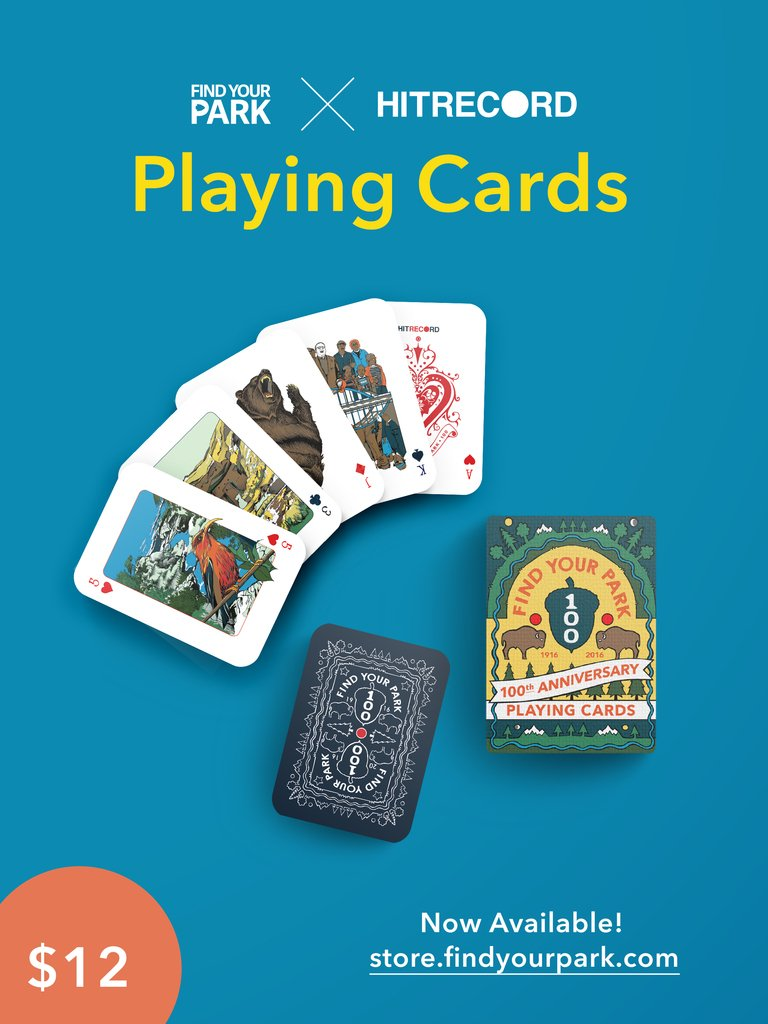 RT @hitRECord: These National Park playing cards are on sale now! You can order your set right here: https://t.co/CjhIK1eUvg https://t.co/e…