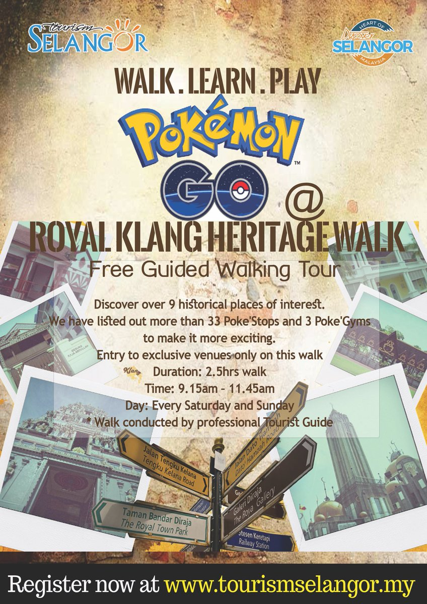 Pokémon Go has taken the Royal Klang Town by storm! To hunt call us now at 03-55132000 /log on to tourismselangor.my https://t.co/hcj90frII2