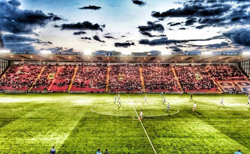 Sincil Bank. @LincolnCity_FC v @northferribyutd 09/08/16 Photo by Philip Little. #Imps https://t.co/VeExeiQt4l