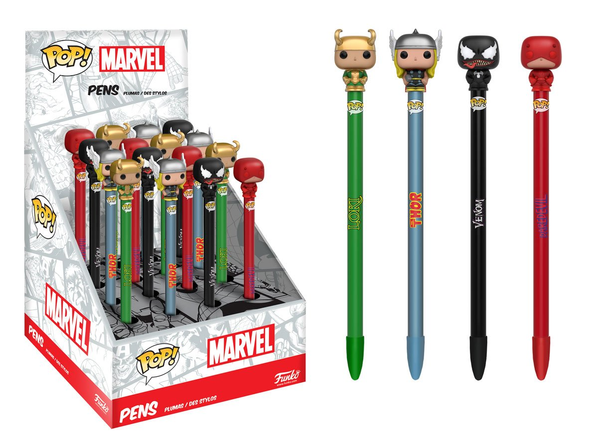 Thanks to @MediaSonrisa who let me know about Funko's new Pop! Pen Toppers in September, which includes Daredevil https://t.co/ajTkq29IAS