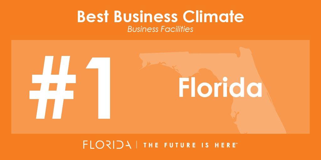 We're #1! @bizfacilities ranks #Florida the best business climate in U.S. #FLFutureIsHere https://t.co/C3E1cmHfBs https://t.co/FlsfOQ5PT1