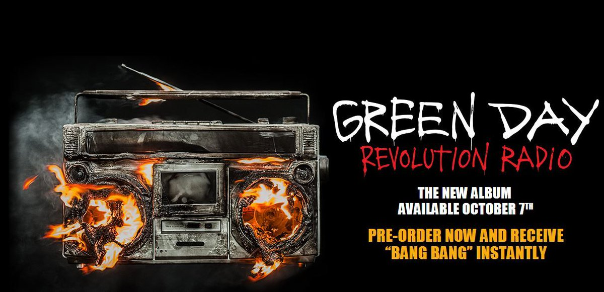 It's official, Green Day's new album 'Revolution Radio' is out October 7th https://t.co/Mz0YwVCLHn https://t.co/Z9xJlOqf1G