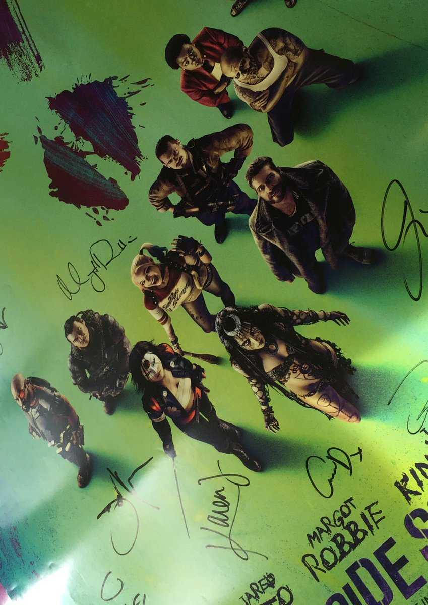 Good to be bad! Follow and RT to #win a #suicidesquad poster signed by the cast! Closes 19/8. https://t.co/p5Gxu8MXoV
