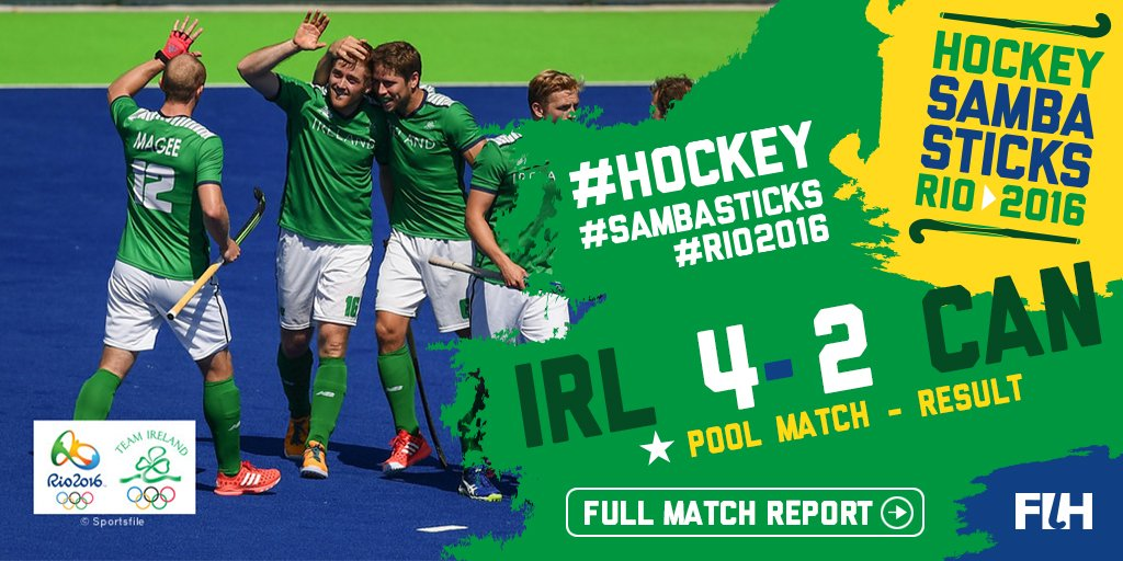 FT @IreMenHockey 4-2 @FieldHockeyCan. Superb win with goals from @shaneod16 Caruth and @MitchDarling88 #hockey https://t.co/YaGbRQ4ft3