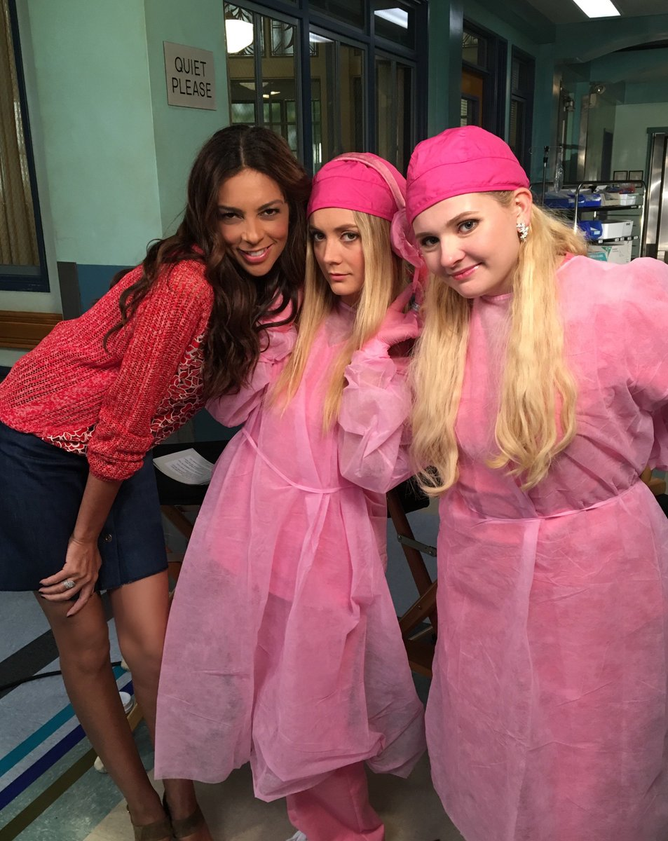 On the @ScreamQueens set with the Chanels