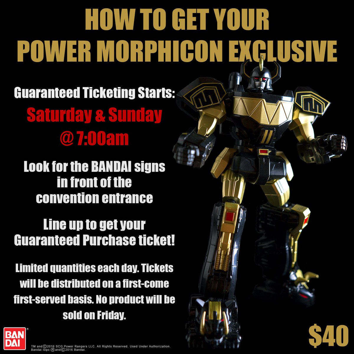 PMC exclusive update! Here is everything you need to know to get YOUR Bandai Power Morphicon exclusive this year https://t.co/SIbURfdBtJ