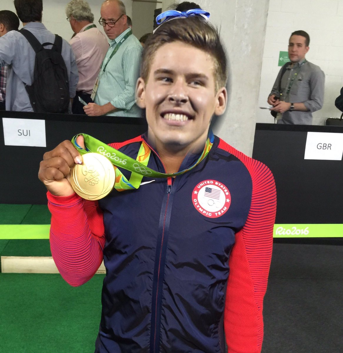 Things me and Phelps have in common, we both have Olympic gold medals!!