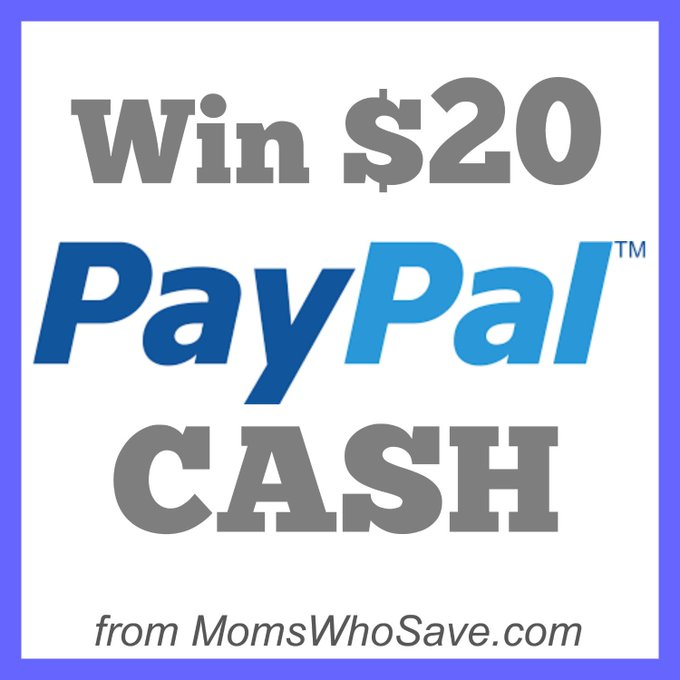 Enter to Win $20 PayPal Cash!