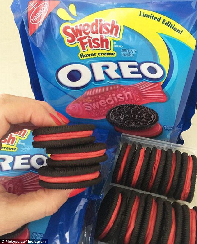 Anyone want oreos with swedish fish flavored filling for Swedish fish flavor