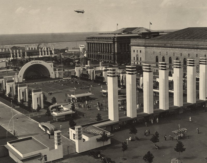 #TBT Aerial view of the Great Lakes Exposition, 1936. Source and Photographer: Unidentified. https://t.co/BozkWeXwRe