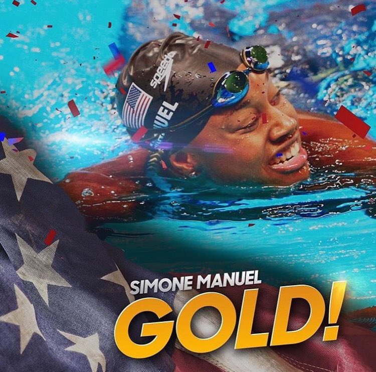History has been made! 1st Black Woman to win an individual Gold medal 4 swimming