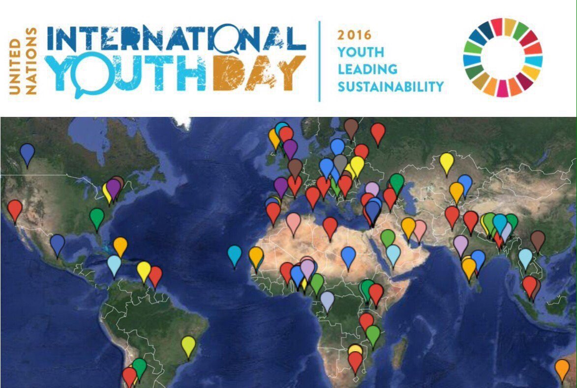 Happy Int'l #YouthDay! Events will take place all over the world. Be part of the celebration https://t.co/A7TZonveA1 https://t.co/ErN9D3ZF2o