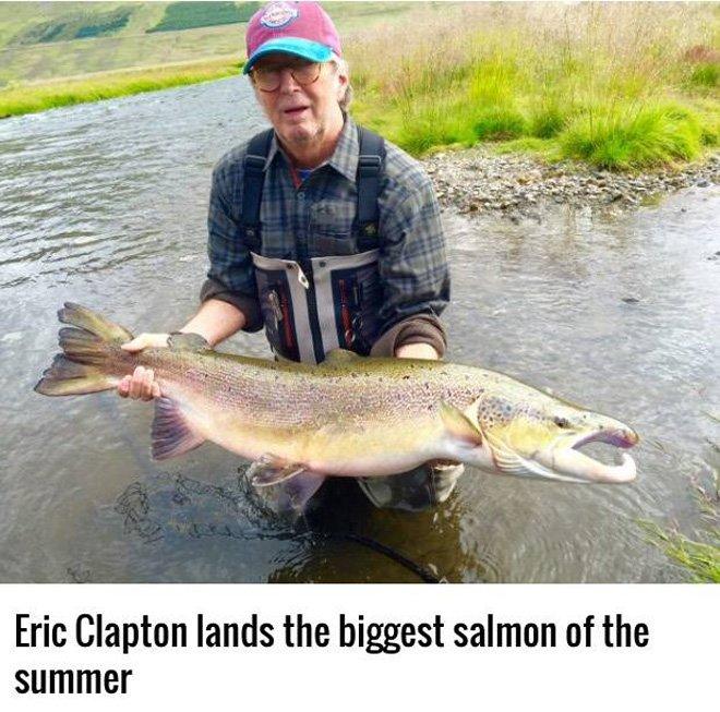 エリック・クラプトン、今年最大級のサケを釣り上げる https://t.co/dn8GJyFWhn https://t.co/xZyVFZchLW
