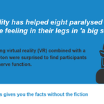 Virtual reality helped improve nerve function in paralysed people