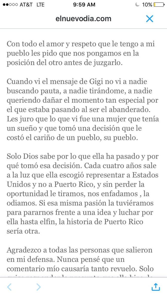 Ojalá aprendan de #JaimeEspinal pq con esto los q le han tirado a Gigi han quedado feos pa'la foto y estrujaitos. https://t.co/6tYEs8U0tV