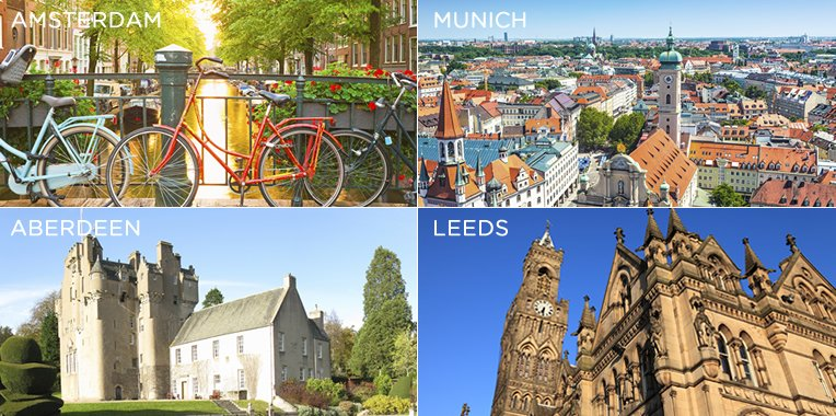 35 destinations for £35, explore some of the UK and Europe's best cities now! T&C's apply.