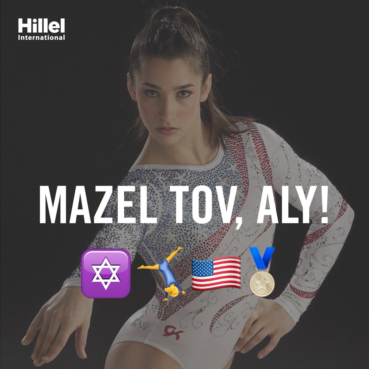 Mazel tov, @Aly_Raisman! We have so much nachas (pride) for you after last night's silver medal win. https://t.co/upb0cD0nHe