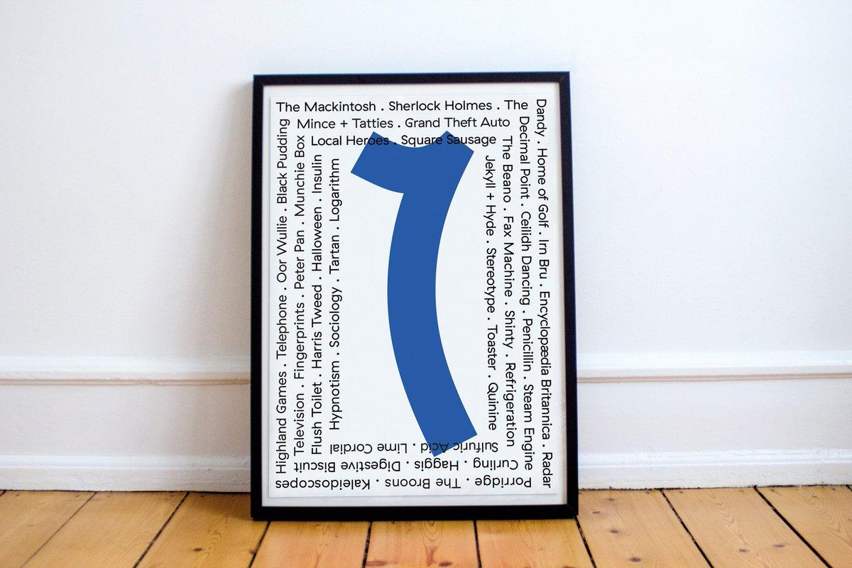 RT @LocalHeroesScot: Buy ScottishDesign Souvenir @warriorsstudio_ for @LocalHeroesScot 'Nummer Wans' poster £15 ht…