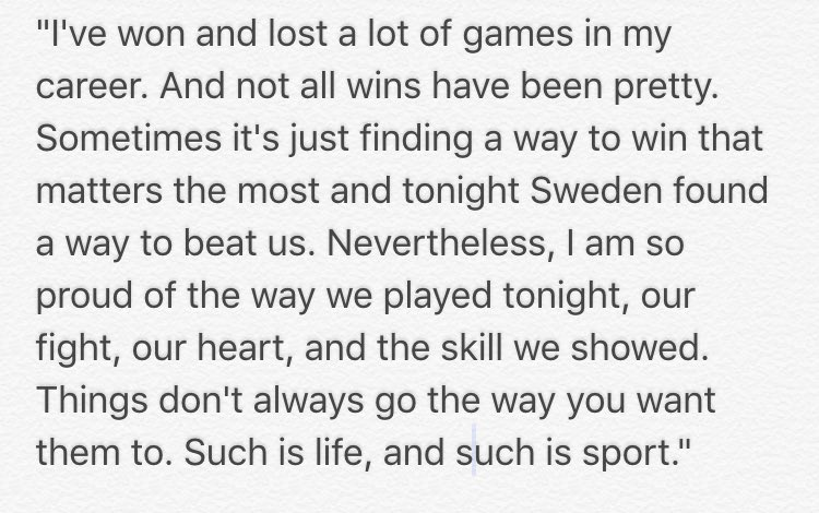 Just heard from Hope Solo. Here's what she had to say. https://t.co/qnWgRirUjE