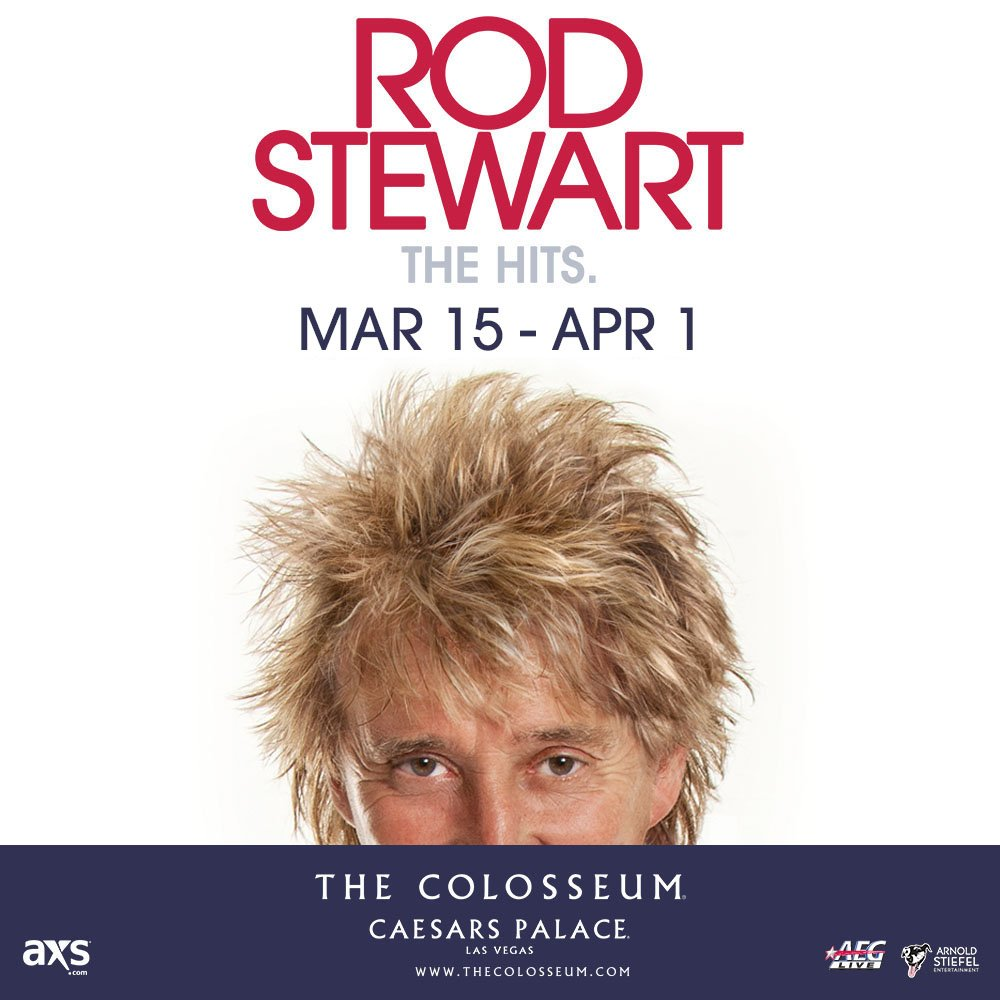 .@RodStewart adds new shows, 3/15-4/1. Presale is Tues 10am–Thurs 10pm. Tix go on-sale Fri at 12pm. PW: HOTLEGS17 https://t.co/qGuXlKpy0A