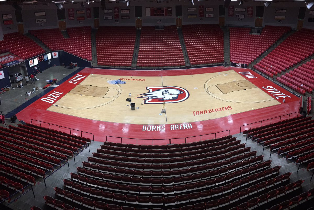 Looks like our floor is just about done.... #DixieBlazers https://t.co/G4LJkZGkTX