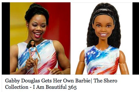 #GabbyDouglas got her own #BarbieDoll Congrats Gabby! https://t.co/IAJ68vS7Ao