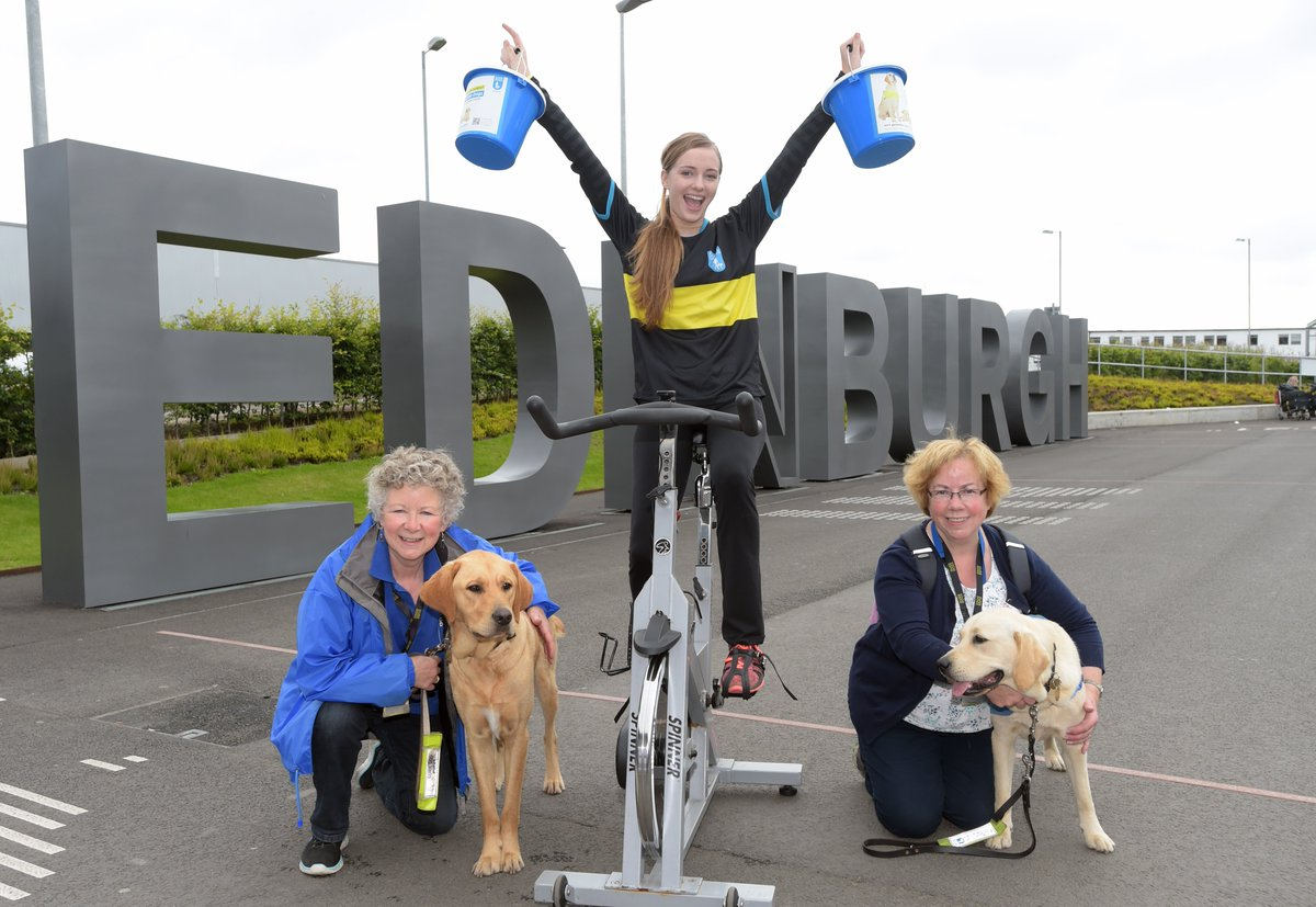 RT @ScotlandB2B: .@EDI_Airport staff saddle up to cycle distance to Amsterdam > @guidedogsscot @theSaltireF https:/…