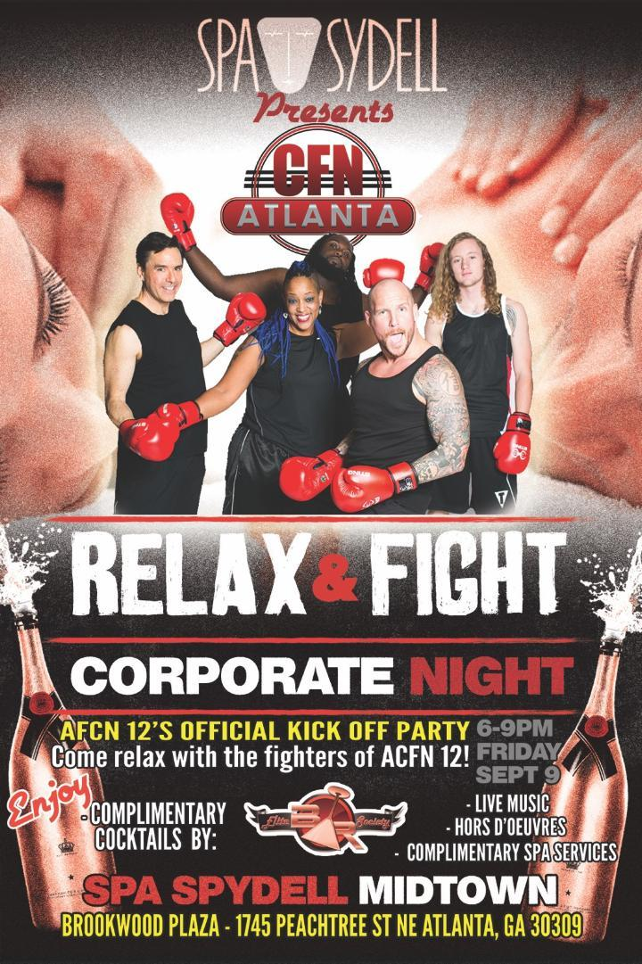 Sept. 9 @SpaSydellATL!  Relax and fight Corporate!  Meet #ACFN12 fighters, sponsors! @EliteBarSociety https://t.co/nDNG64Fbkq