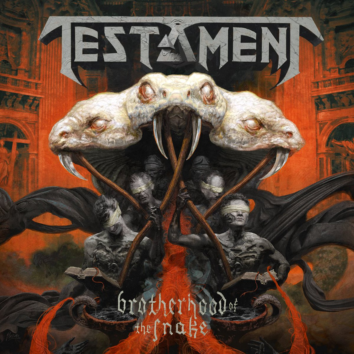 "Testament unveil the cover art for ""Brotherhood Of The Snake"", coming October 28th via Nuclear Blast. https://t.co/CU3ikxgjYq"
