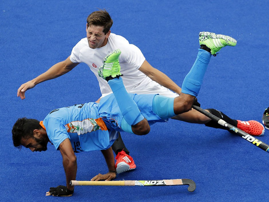 How the mighty have fallen. Canada draws world power India 2-2 in field hockey.