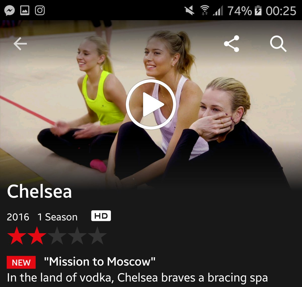 RT @Mia_3sk: My turn to watch you @MariaSharapova  being your silly self ???? I'm already sure it's the best epi of the show so far???? https://t…